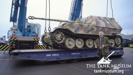 Elefant Tank arrives at Southampton