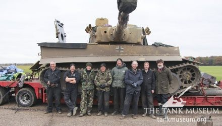 Tank Museum crew on the set of Fury
