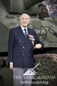 Ken Tout at the Tank Museum in 2014.