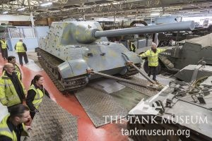 The Tank Museum's Jagdtiger being moved into the Tiger Collection
