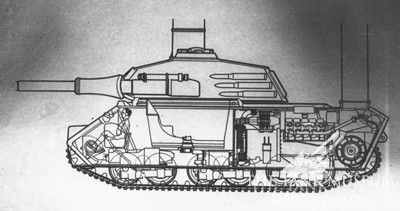 One of Porsche's unsuccessful VK 45.02 (P) designs.