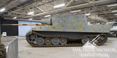 The Tank Museum's Jagdtiger missing a suspension unit.