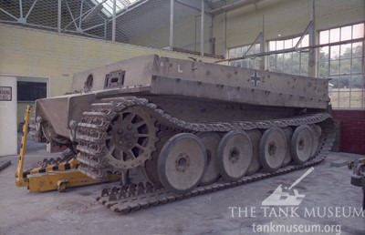 Tiger 131 broken tracks