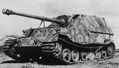 A Ferdinand tank destroyer, used to great effect around Ponyri.