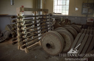 Tiger 131 road wheels removed