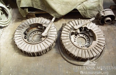 Tiger tank steering brake drums