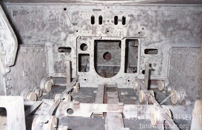 Tiger tank engine compartment
