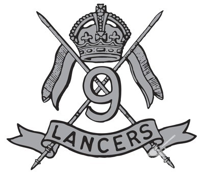 The 9th Queen's Royal Lancers Cap Badge.
