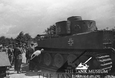 First captured Tiger tank