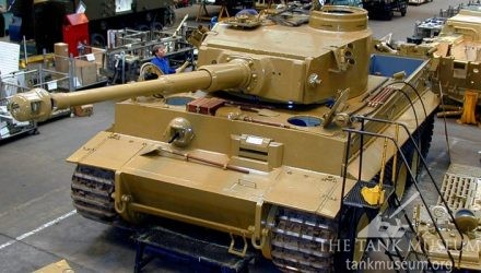 Tiger 131 tank workshop restoration