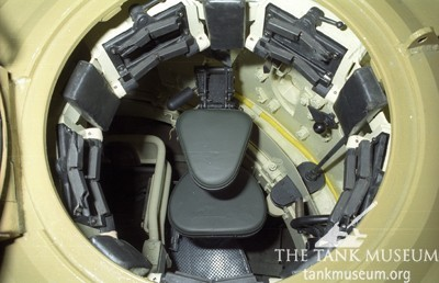 Inside Tiger 131's cupola