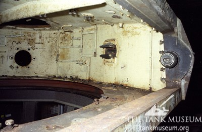 Trunnions and mantlet interior