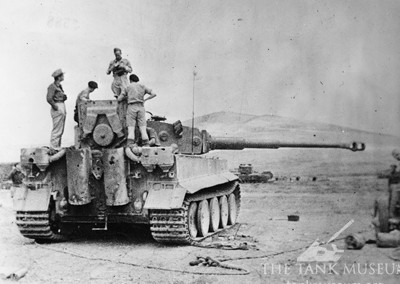 Tiger 131 is recovered from the battlefield