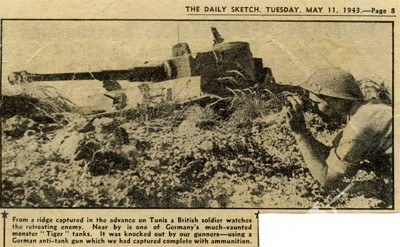 The Daily Sketch article, showing Tiger 131