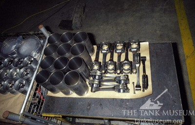 Connecting rods, cylinder liners and cylinder heads.