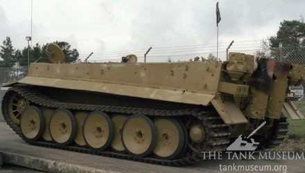 Tiger Tank with turret off and scorch damage