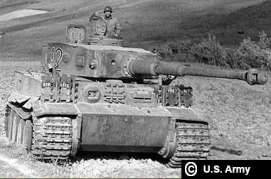 Tiger 712 after its capture in Tunisia