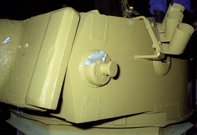 More damage to the turret.