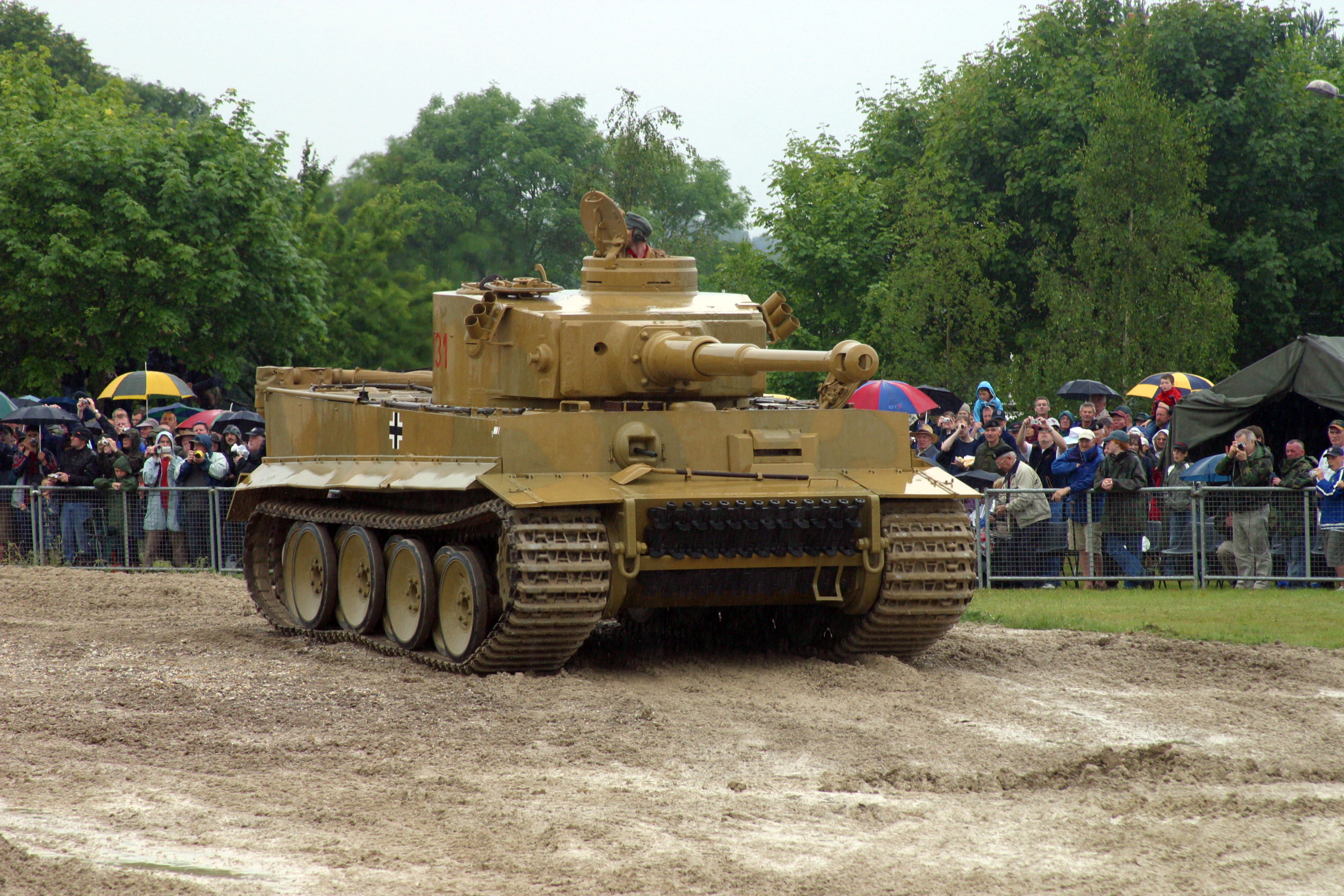 Tankfest 2006, a wet day for a flawless display.