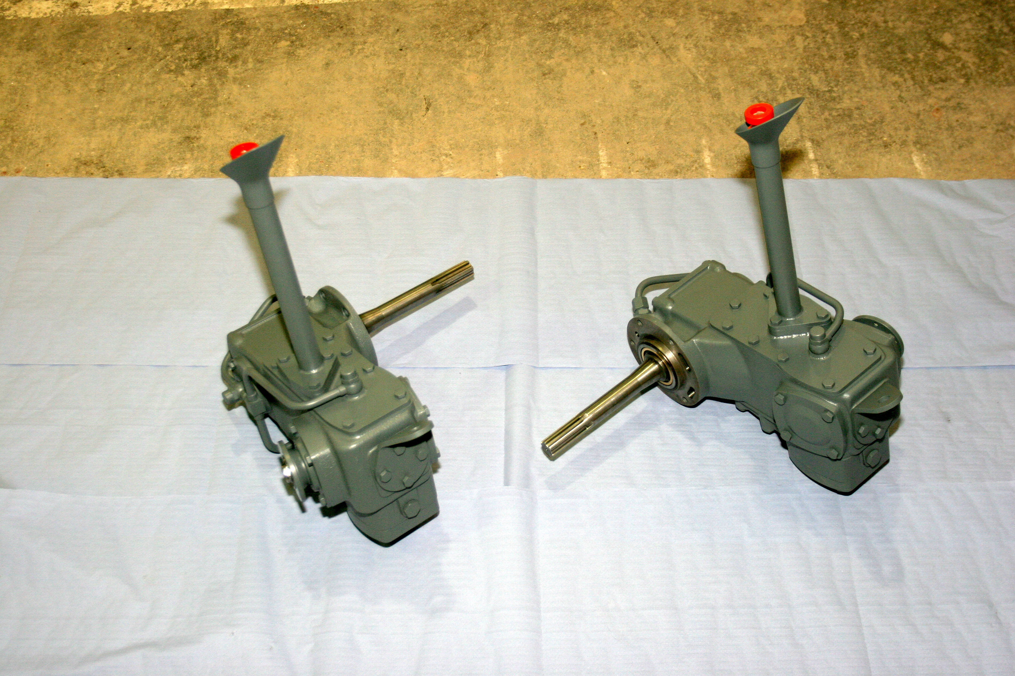 "The ""new"" gearboxes before installation."